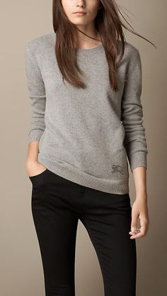 Cashmere Cotton Sweater | Burberry