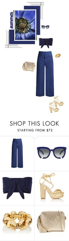 """Summer is here"" by rasa-j ❤ liked on Polyvore featuring Sea, New York, Grey Ant, Solid & Striped, Alchimia Di Ballin, Anya Hindmarch, Seed Design and womensFashion"