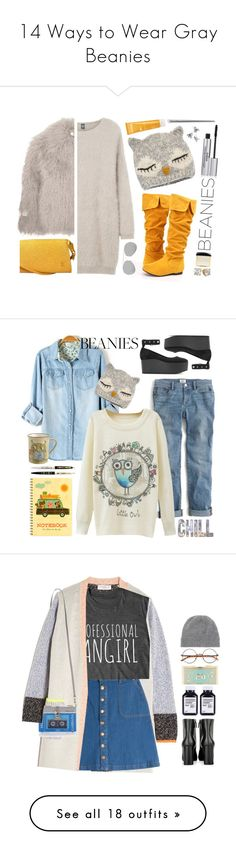 """14 Ways to Wear Gray Beanies"" by polyvore-editorial ❤ liked on Polyvore featuring waystowear, graybeanies, Eleventy, STELLA McCARTNEY, San Diego Hat Co., Louis Vuitton, Sisley, Phytomer, Tom Ford and Acne Studios"