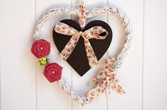 Bridal Shower Heart Wreath Engagement Wreath Wedding