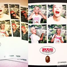 150614 | #BIGBANG @ BAPE #BIGBANG HONGKONG AFTER PARTY ⚡️ — BAPE PHOTOBOOTH with #SEUNGRI & #TAEYANG sry for da spamzzz lol