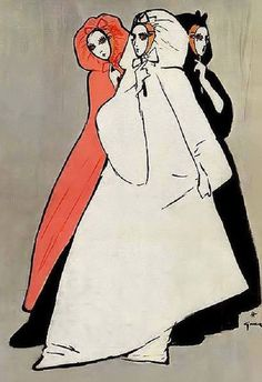Miss Dior parfums Rene Gruau 1962 (via Maudelynn's Menagerie)