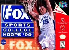 Fox Sports College Hoops 99 coverart.jpg Wikipedia, the free encyclopedia #nintendo #nintendo64 #games #retro #synergeticideas #fun #action #sport #rpg #adventure #gaming joy #history #platform #competition #collection #power #64bit #relive #relaxation #power #gamer #gaming #ultra #powerplay #gameon #news