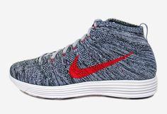 Nike Lunar Flyknit Chukka Wolf Grey/University Red