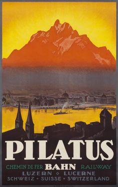 Pilatus Bahn by Artist Unknown | Shop original vintage #posters online: www.internationalposter.com