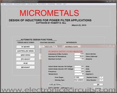 Inductor Design Software POST: http://www.electronicecircuits.com/electronic-software/inductor-design-software HOME: http://www.electronicecircuits.com