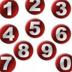Números del 0 al 9.