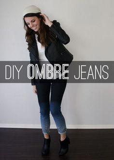 Check out this super easy DIY to make your very own pair of ombre jeans just in time for fall and winter weather!
