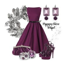 """purple new year"" by sagramora ❤ liked on Polyvore"