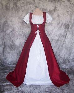 Renaissance Costume Christmas Mrs. Santa Claus Red Cape