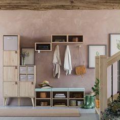 Recibidor Videos Home Decor Interior Design Living Room, Living Room Designs, Tan Leather Sofas, Wooden Stairs, 139, Reggio Emilia, Home Decor Styles, Wood Furniture, Sweet Home