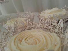 #Ivory and #White #Wedding #Cupcake