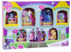 Amazon.com : My Little Pony: Friendship is Magic - Midnight in Canterlot Pony Exclusive Collection : Toy Figure Playsets : Toys & Games