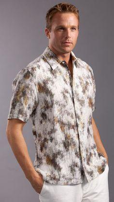 Coolred-Men Patterned Summer Short Sleeve Plus Size Beach Wear Tshirt Shirt