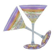 Mosaic Garland Martini Glass (Set of 2)