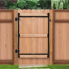 Adjust-A-Gate Contractor Series Adjustable Steel Gate Frame 3 Rail Kit x Gray Adjust A Gate, Pallet Decking, Diy Pallet, Storage Shed Plans, Garage Storage, Garage Organization, Storage Ideas, Pallet Shed Plans, Garage Shelf