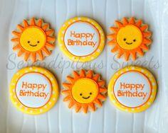 Sunshine Birthday Cookies