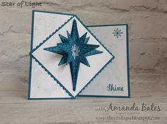 The Craft Spa - Stampin' Up! UK independent demonstrator : Star of Light Z Fold Panel Card & Tutorial