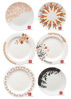 Handpainted plates by mirdinara - color me mine inspo?