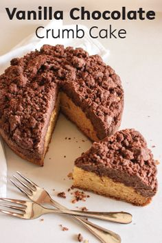 It doesn't get any more classic than this. Vanilla Chocolate Crumb Cake may be exceptionally simple, but that is the secret to this delicious yet easy dessert. Give this recipe a try for a tasty pairing to your morning coffee or for an afternoon pick-me-up.