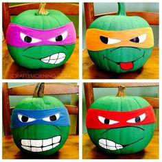 Ninja turtle pumpkins More