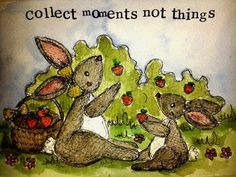 Collect Moments 7'' x 5'' by MyPaintedBear on Etsy, £20.00