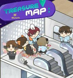 Treasure Maps, Ulzzang Girl, Yoshi, Fanart, Kpop, Wallpaper, Memes, Wall Papers, Fan Art