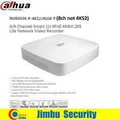 138.00$  Watch now - Dahua NVR4104-P-4KS2 NVR4108-P 4 Ch 8 Ch Smart Mini 1U 4 PoE Ports HDMI Network Video Recorder replace NVR4108-P  #shopstyle