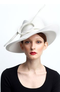 The Great Escape--Couture millinery by Sylvia Fletcher, hat maker to the Duchess of Cambridge.