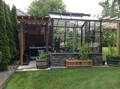 The Legacy 8x8 Greenhouse with Potting Shed contemporary greenhouses