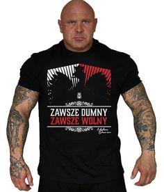 Koszulka 'Zawsze Dumny' czarna - przód ---> Streetwear shop: odzież uliczna, kibicowska i patriotyczna / Przepnij Pina!