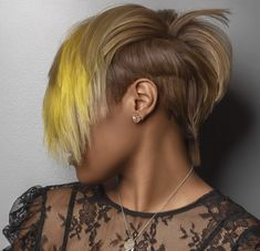 Beautiful looks created with Influance Hair Care Products Shaved Side Hairstyles, Dope Hairstyles, Short Bob Hairstyles, Short Hair Cuts, Short Hair Styles, Natural Hair Styles, Blonde Hair Care, Shaved Hair Designs, Sassy Hair