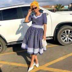 Spiffy Fashion New shweshwe traditional dresses - Stylish Dresses, Fashion Dresses, South African Traditional Dresses, Shweshwe Dresses, African Attire For Men, African Dress, African Outfits, African Culture, Africa Fashion