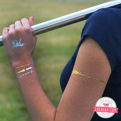 Let your love for lax shine with our NEW Metallic Lacrosse Jewelry Tattoos exclusively from LuLaLax.com!