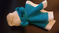 Crochet smurf. Made with cotton yarn. A Smurf for babys