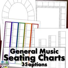 35 different seating chart sets, in pdf and powerpoint formats, perfect for elementary general music (and many other classrooms as well)! Circle, U-shape, arcs, rows, colored rugs and more each in 3 class sizes. Includes versions with squares by each student for record keeping and assessment.