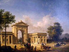 M♥ Giovanni Migliara, L'Arco di Porta Nuova, 1814 Civiche Raccolte Storiche Museo di Milano