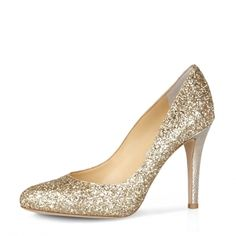 Glittering Almond Toe Stiletto Heel Pumps with Sequins