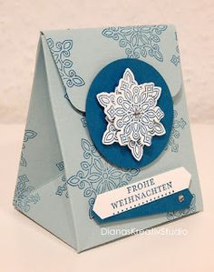 stampin up Geschenktüte Present Goodies Flockenzauber  Weihnachten