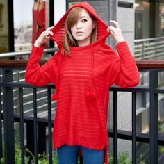Tokyo Fashion Pompon-Front Sweater