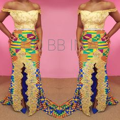 Hey Guys, We have selected some of the finest Kente styles that can fit your personality. Every one of us is a boss chic depending how we look at what we do. Kente fabrics are not new local fabric… Ghana Dresses, Kente Dress, African Traditional Wedding, Traditional Outfits, Agbada Styles, Ankara Clothing, Clothing Styles, Kente Styles, Kente Cloth
