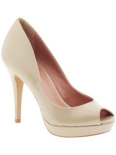 nude heels... i hear if you wear lighter colored heels, it makes your legs look longer!