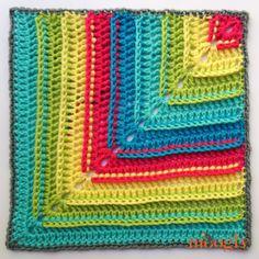 Moogly CAL 2017 Block Winter Woods Mitered Blanket Square by Fiber Flux - free crochet pattern. Crochet Granny Square Afghan, Crochet Blocks, Granny Square Crochet Pattern, Crochet Squares, Granny Squares, Crochet Motif, Crochet Designs, Crochet Yarn, Crochet Patterns