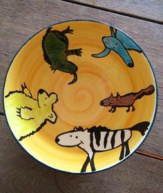 Handpainted ceramic bowl by Katinka Gémesi * Holland