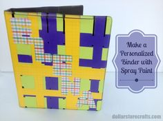 Spray Paint a Customized Binder