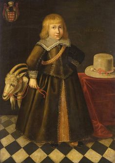 Title: Portrait of a child with a toy goat Maker: Dutch School; painter Category: painting Name: painting Date: 1646 School/Style: Dutch
