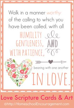 Love Is Scripture Cards and Art Posters for your home.