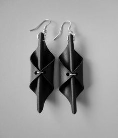 recycled leather belt earrings - Google Search