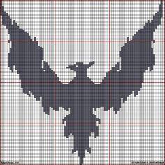 free phoenix cross stitch pattern | HARRY POTTER EN PUNTO DE CRUZ on Pinterest | Harry Potter, Hogwarts ...