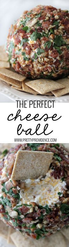 Not only is this cheese ball freaking delicious but it is also beautiful and easy to make! The perfect appetizer to bring to any get together!